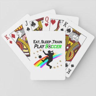 EAT, SLEEP, TRAIN PLAY SOCCER PLAYING CARDS