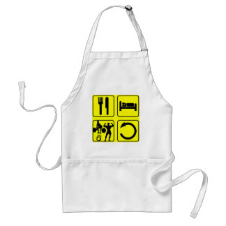 Eat Sleep Train Repeat Body Building Weight Lift Adult Apron