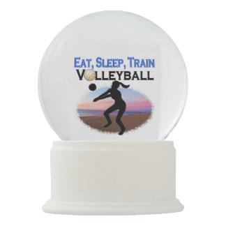 EAT, SLEEP, TRAIN VOLLEYBALL SNOW GLOBE