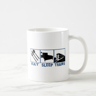 Eat Sleep Trains Coffee Mug
