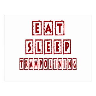Eat Sleep Trampolining Postcard