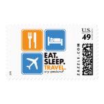 Eat Sleep Travel Postage Stamps