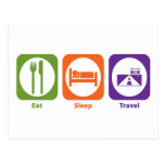 Eat Sleep Travel Postcard