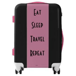 """Eat Sleep Travel Repeat"" 22"" Suitcase Luggage"
