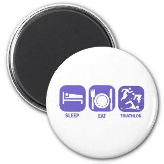 Eat Sleep Triathlon 2 Inch Round Magnet