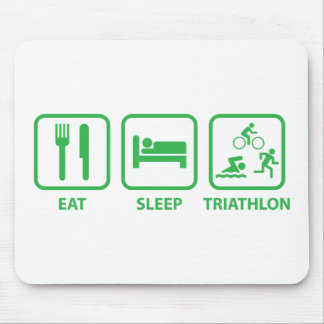 Eat Sleep Triathlon Mouse Pad