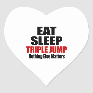 EAT SLEEP TRIPLE JUMP HEART STICKER