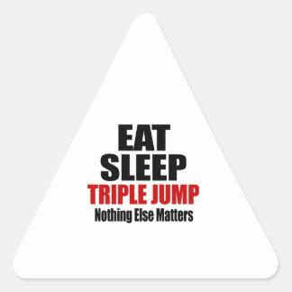 EAT SLEEP TRIPLE JUMP TRIANGLE STICKER