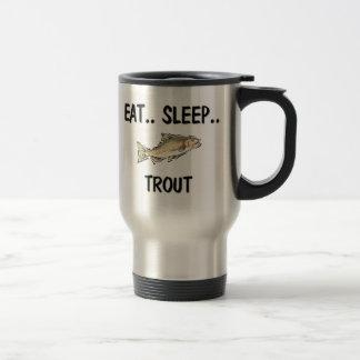 Eat Sleep TROUT 15 Oz Stainless Steel Travel Mug