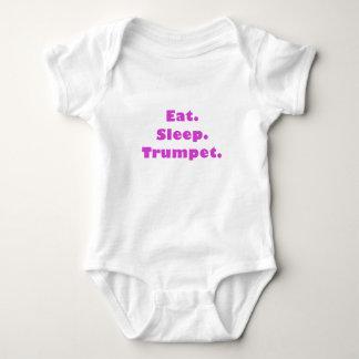 Eat Sleep Trumpet Baby Bodysuit