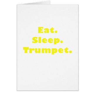 Eat Sleep Trumpet Card