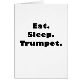 Eat Sleep Trumpet Greeting Card