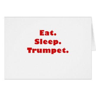 Eat Sleep Trumpet Cards