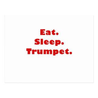 Eat Sleep Trumpet Post Card