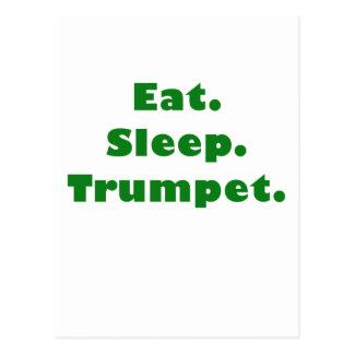 Eat Sleep Trumpet Post Cards
