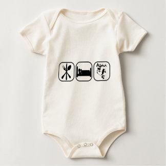 Eat Sleep Turbo 1 Baby Bodysuit