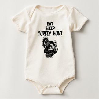 Eat, Sleep, Turkey Hunt Baby Bodysuit