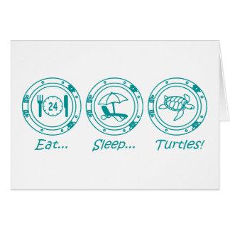 Eat Sleep Turtles! Card