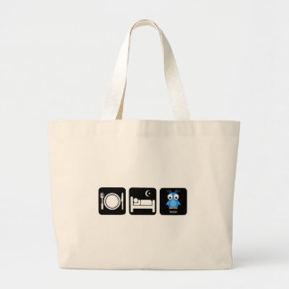 eat sleep tweet jumbo tote bag
