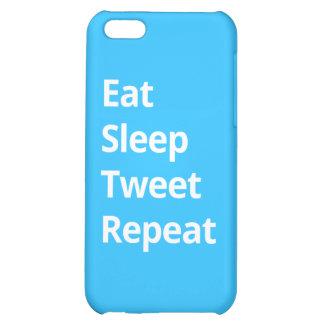 Eat Sleep Tweet Repeat - iPhone Case Cover For iPhone 5C