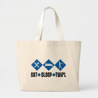 Eat Sleep Twirl Blue Bag