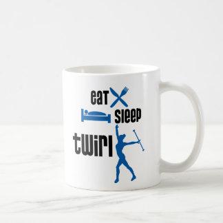 Eat Sleep Twirl Blue Coffee Mug