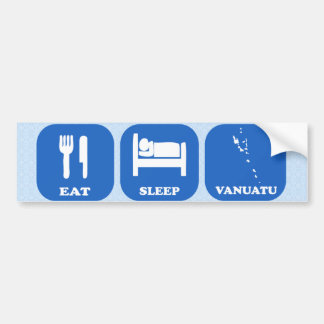 Eat Sleep Vanuatu Car Bumper Sticker