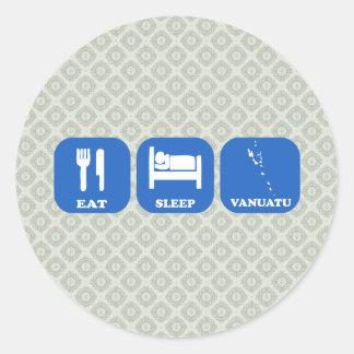Eat Sleep Vanuatu Stickers