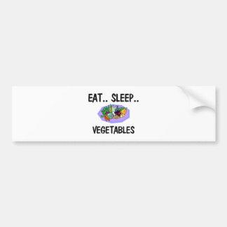 Eat Sleep VEGETABLES Car Bumper Sticker