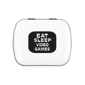 Eat Sleep Video Games Candy Tin