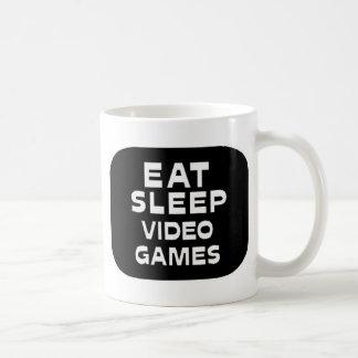 Eat Sleep Video Games Classic White Coffee Mug