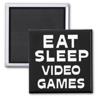 Eat Sleep Video Games Magnet
