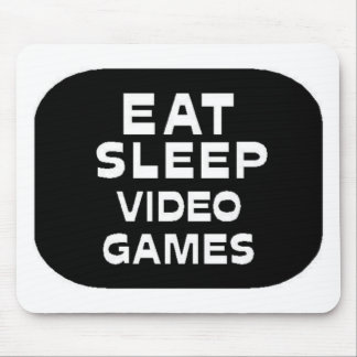 Eat Sleep Video Games Mouse Pad