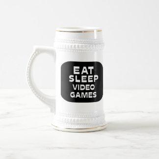 Eat Sleep Video Games Coffee Mugs