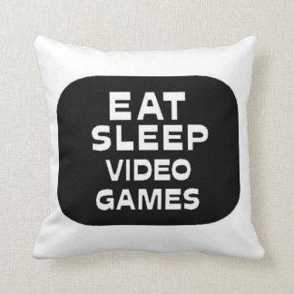Eat Sleep Video Games Pillow