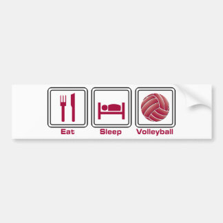 Eat Sleep Volleyball Bumper Sticker