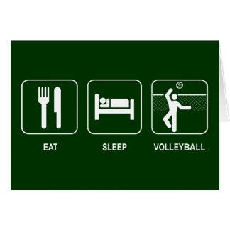 Eat Sleep Volleyball Card