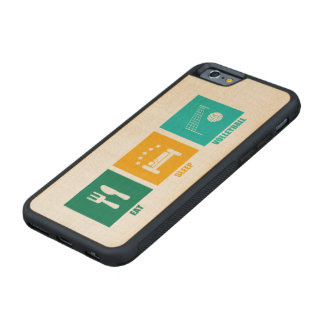 Eat Sleep Volleyball Carved Maple iPhone 6 Bumper Case