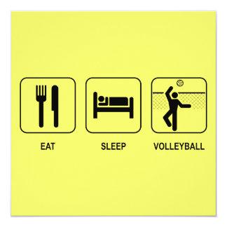 Eat Sleep Volleyball Invitation