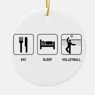 Eat Sleep Volleyball Ornament