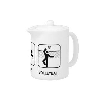Eat Sleep Volleyball Teapot