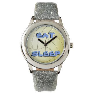 Eat Sleep Volleyball Wristwatches