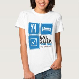Eat Sleep Vote Blue T Shirt