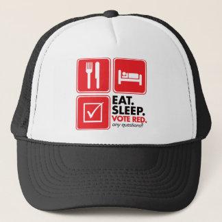 Eat Sleep Vote Red Trucker Hat
