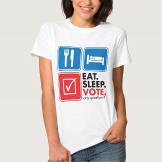 Eat Sleep Vote Shirt