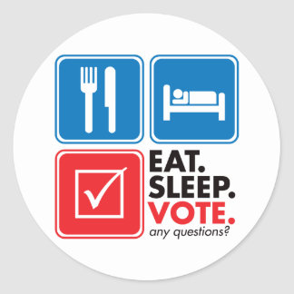 Eat Sleep Vote Sticker