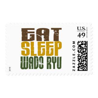 Eat Sleep Wado Ryu 1 Postage Stamp
