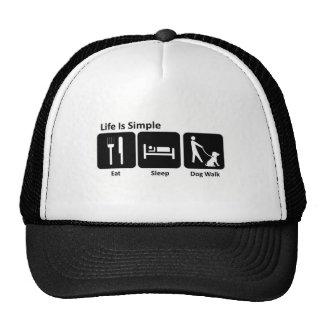 Eat Sleep Walk Dog Trucker Hat