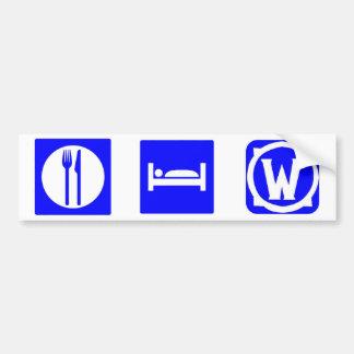 Eat, Sleep, Warcraft Bumper Sticker