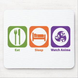 Eat Sleep Watch Anime Mouse Mat